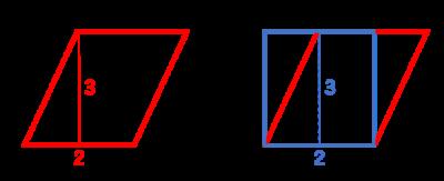 平行四辺形の綿世紀の求め方1